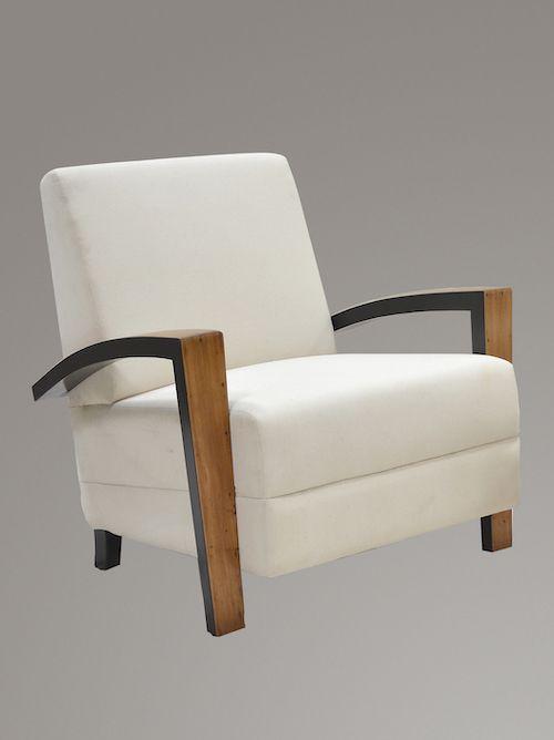 Sensational Pair Of Art Deco Lounge Chairs Bralicious Painted Fabric Chair Ideas Braliciousco
